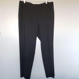 St. John Caviar black stretch wool dress pants